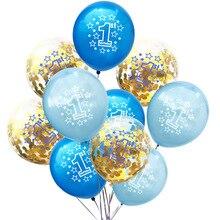 цена Happy Birthday Party Decoration 1st Birthday Latex Balloons Baby Shower Kids Birthday Decor 2 Year Old Number Confetti Balloon в интернет-магазинах