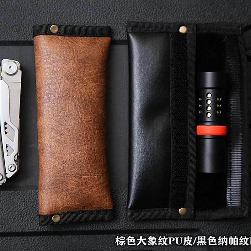 EDC Hand Made Artificial Leather Synthetic Leather Sheath Cover Portable Storage Multifunction Tools EDC