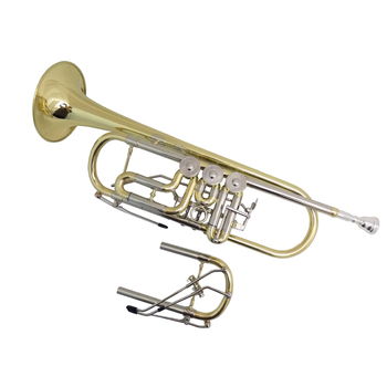 цена на Professional Schagerl trumpet Bb with extra Cupronickel Tuning pipe Yellow brass trumpet with case Musical instruments