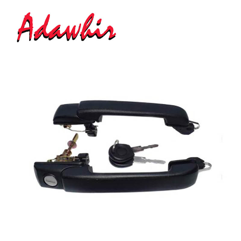 NEW 1PC / 2PCS Fit <font><b>VW</b></font> Exterior Door Handle with keys Front Rear Left Right 1H0837207B, 1H0837207C 1H4 839 205 image