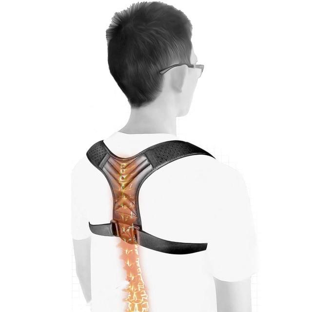 Livraison directe réglable dos Posture correcteur clavicule dos épaule lombaire orthèse soutien ceinture Posture Correction