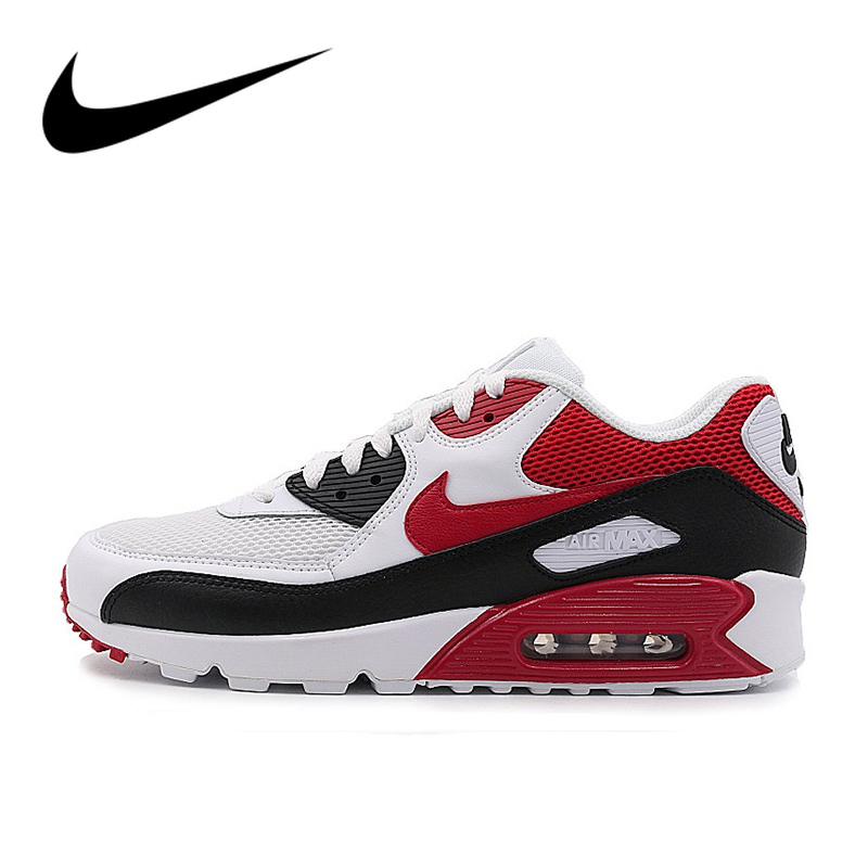 Original Authentic NIKE AIR MAX 90 ESSENTIAL Women's Running Shoes Sport Outdoor Mesh Breathable Comfortable Sports Shoes 537384