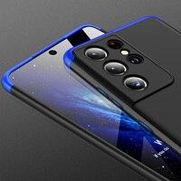 GKK-funda para Samsung Galaxy S21, protección Ultra completa, mate, Protector de lente de cámara para S21 Plus