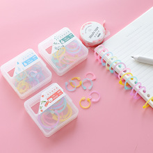 Creative color open loop binder loose leaf ring for document file card Paper Key data earphone cable Organiser