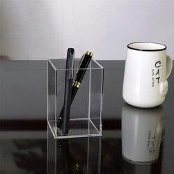 Акриловый держатель для ручек 2 упаковки, прозрачный Настольный Пенал для карандашей, канцелярский органайзер для офисного стола, аксессуа...