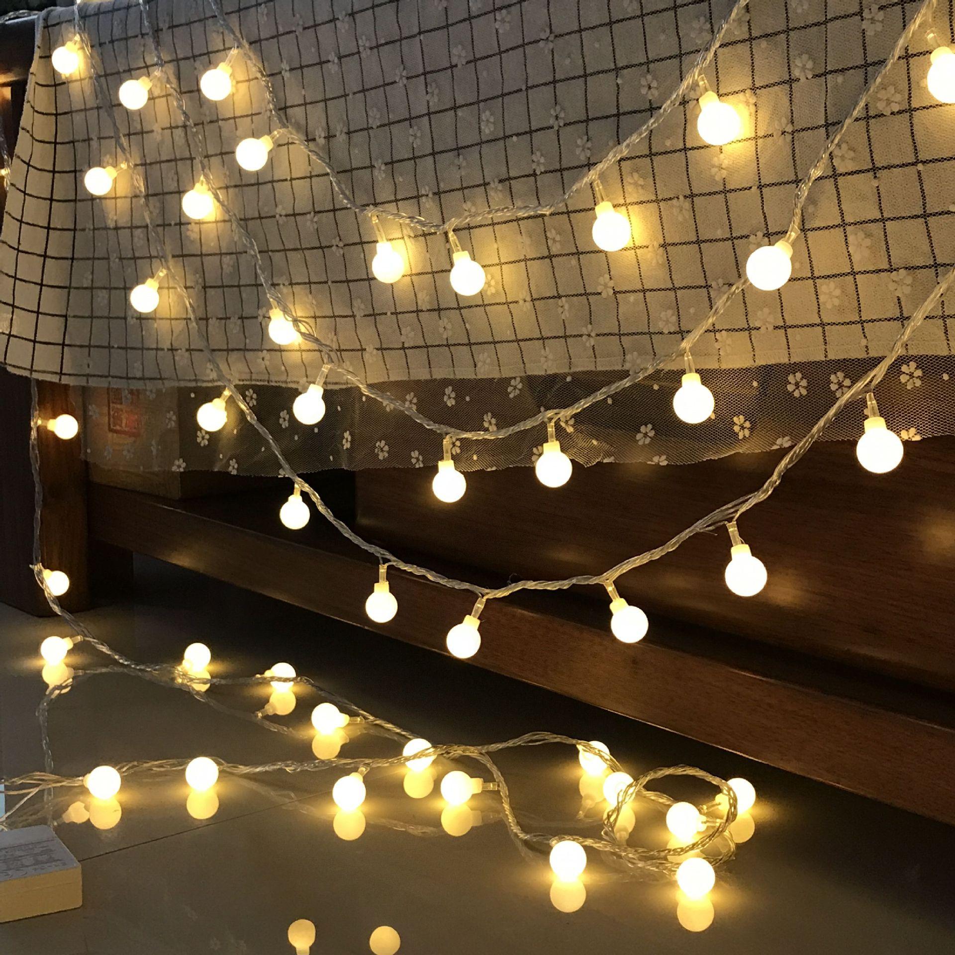 Natal interior luzes de fadas festão led string luzes guirlanda em baterias bola cortina decoração árvore luzes do feriado ao ar livre