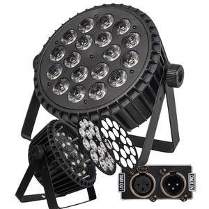 DMX 512 Lighting Flat-Par DJ 18x18w Aluminum-Alloy Par Cans 4pcs/Lot LED