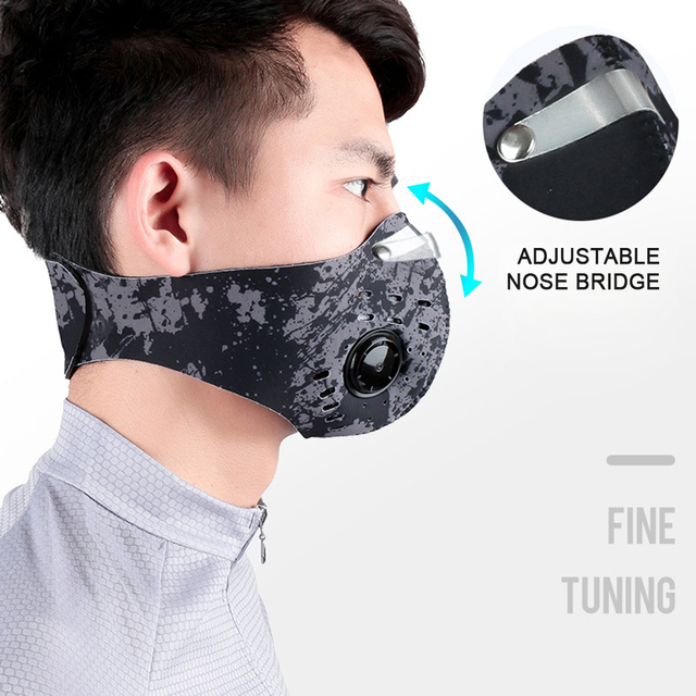 1Pcs Activated Carbon Dust-proof Breathable Mesh Bicycle Face Mask PM2.5 Dust Smog Windproof Protective Mesh 1
