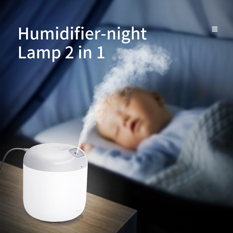 Baseus Humidifier Aroma Diffuser Difusor For Home Office 600 ml Large Capacity Air Humidifier Humidificador With LED Lamp