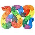 Детские игрушки-пазлы  детские развивающие игрушки-пазлы  26 буквенно-цифровые деревянные пазлы в форме змеи  развивающая игрушка