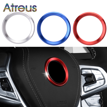 Aluminium Trim Car Steering Wheel Cover Logo Ring For BMW X5 E53 E70 F15 X6 E71 F16 X1 E84 F48 X3 E83 F25 X4 F26 M Accessories image