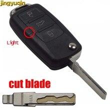 Jingyuqin Cut Blade 3 Buttons Remote Key Blade For Volkswagen Golf Passat Polo Jeta Touran Bora Sharan Transporter