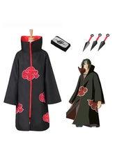 Anime naruto cosplay traje akatsuki uchiha itachi shuriken testa bandana acessórios ternos