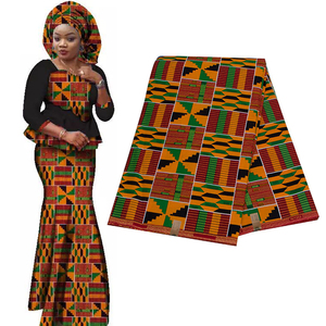 Image 2 - 2020 Royal Wax Batik Prints Africa Fabric Pagne 100% Cotton Ankara Kente Real Wax Tissu Best Quality For Party Dress Handmake