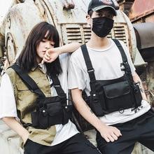 Functional Tactical Chest Bag For Men Fashion Bullet Hip Hop Vest Streetwear Bag Waist Pack Women Black Chest Rig Bag