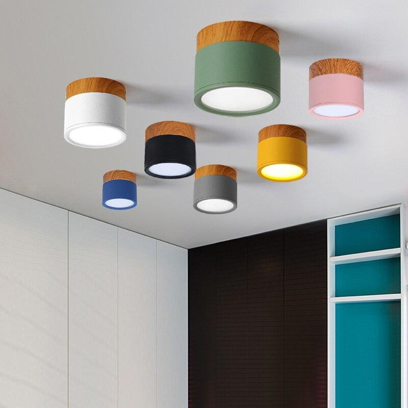 Iron Wood Led Ceiling Lights Modern Nordic Ceiling Lamp For Living Room Bedroom Kitchen Bar Stair Spot Light Fixtures Home Decor