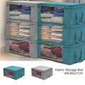 Складная коробка для хранения одежды  Нетканая тканевая сумка для хранения с прозрачным окошком  на молнии  органайзер для постельного бель...