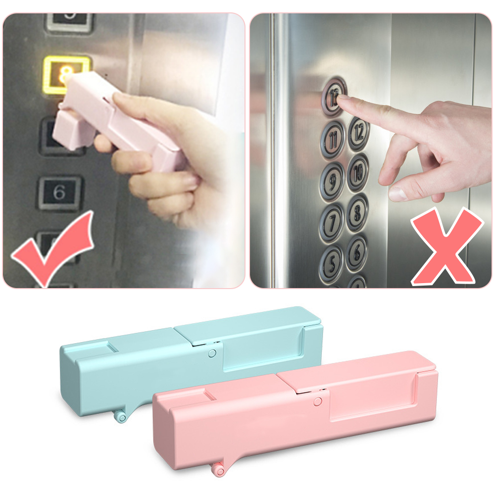 2PCS Epidemic Prevention Disinfectant Tool Open Door Press Elevator Button Gadget Avoid Contacting Tools For Adult Kid Security