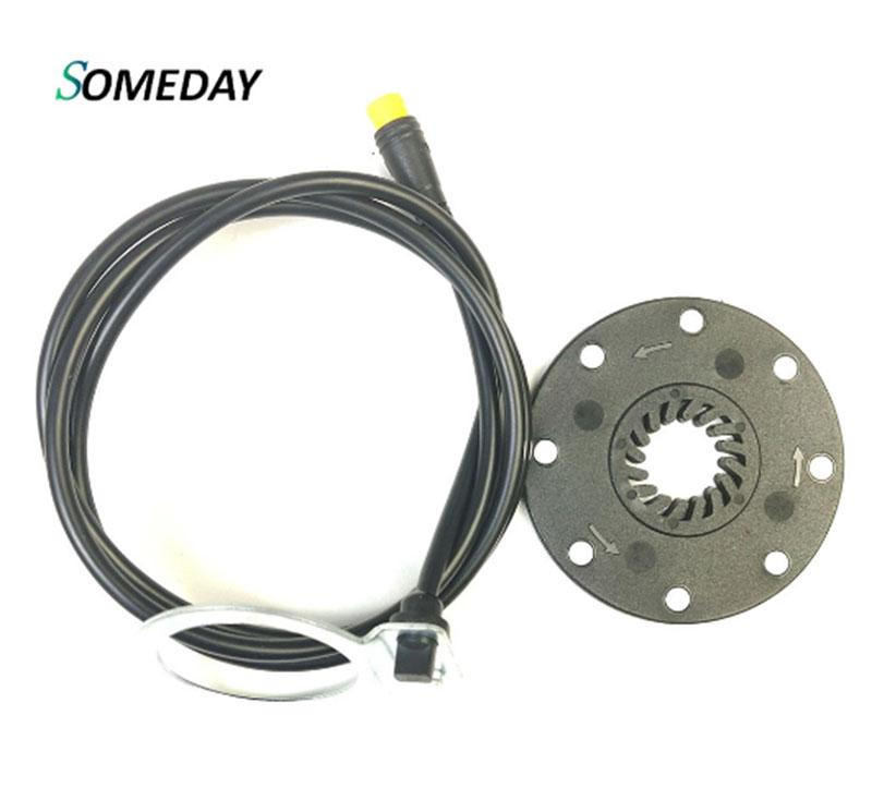 SOMEDAY Electric Bicycle PAS Assist Sensor Pedal E Bike KT 8 Magnets Ebike Parts SM Waterproof Connector