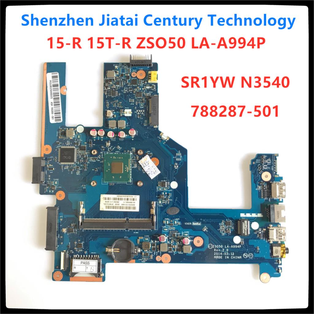 787809-001 787809-601 787809-501 Mainboard For HP 15-R 250 G3 256 G3 15r 250-G3 Laptop Motherboard N3540 SR1YW <font><b>ZS050</b></font> <font><b>LA</b></font>-<font><b>A994P</b></font> image