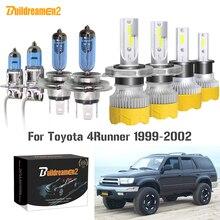 Buildreamen2 4 X Car Headlight Hi/Lo Beam Fog Lamp LED Halogen Headlamp Bulb 12V For Toyota 4Runner 4 Runner 1999 2000 2001 2002