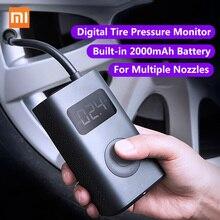 شاومي Mijia نافخة المحمولة الذكية الرقمية ضغط الإطارات الاستشعار مضخة كهربائية للدراجات النارية دراجة نارية سيارة لكرة القدم