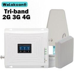 Amplificador de señal GSM 3G 4G 900 1800 2100 amplificador de tres bandas 2G 3G 4G LTE 1800 repetidor de señal para teléfono móvil