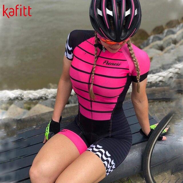 Kafitt senhoras bicicleta manga curta camisa de ciclismo terno camisa montanha bicicleta estrada mountain bike equitação macacão roupas 2