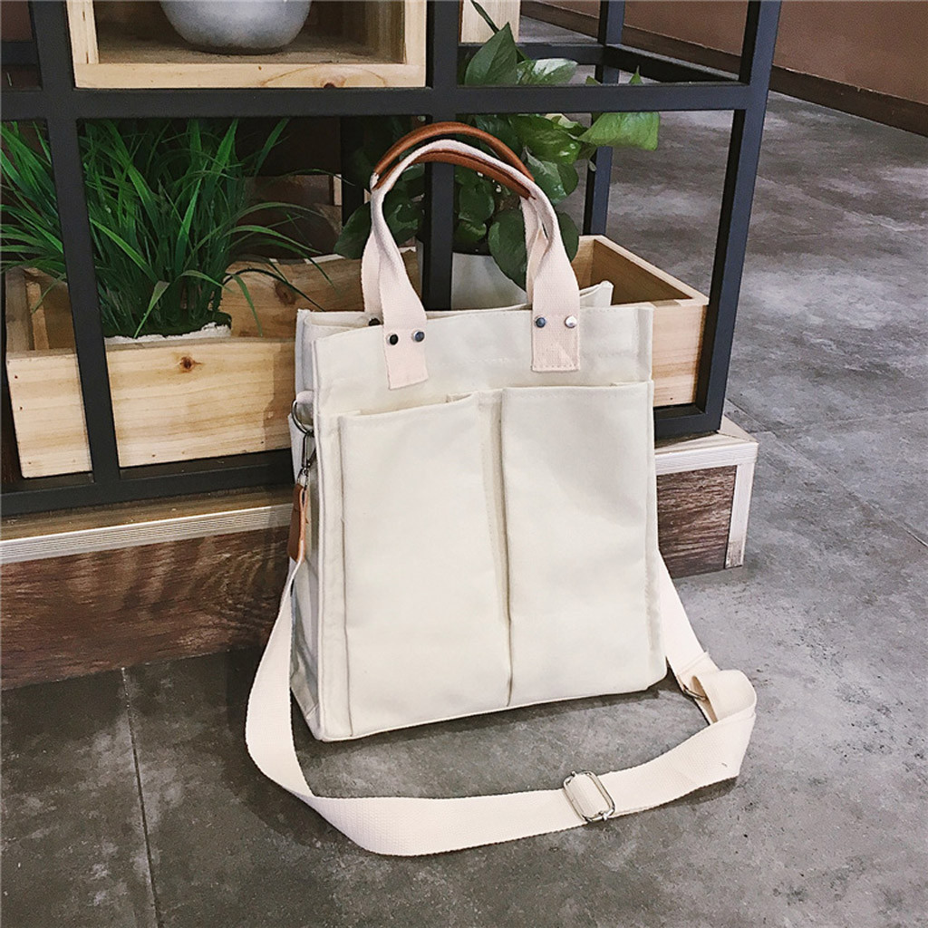 Women Shopping Bag Female Canvas Cloth Shoulder Bag Environmental Storage Handbag Reusable Foldable Eco Grocery Totes