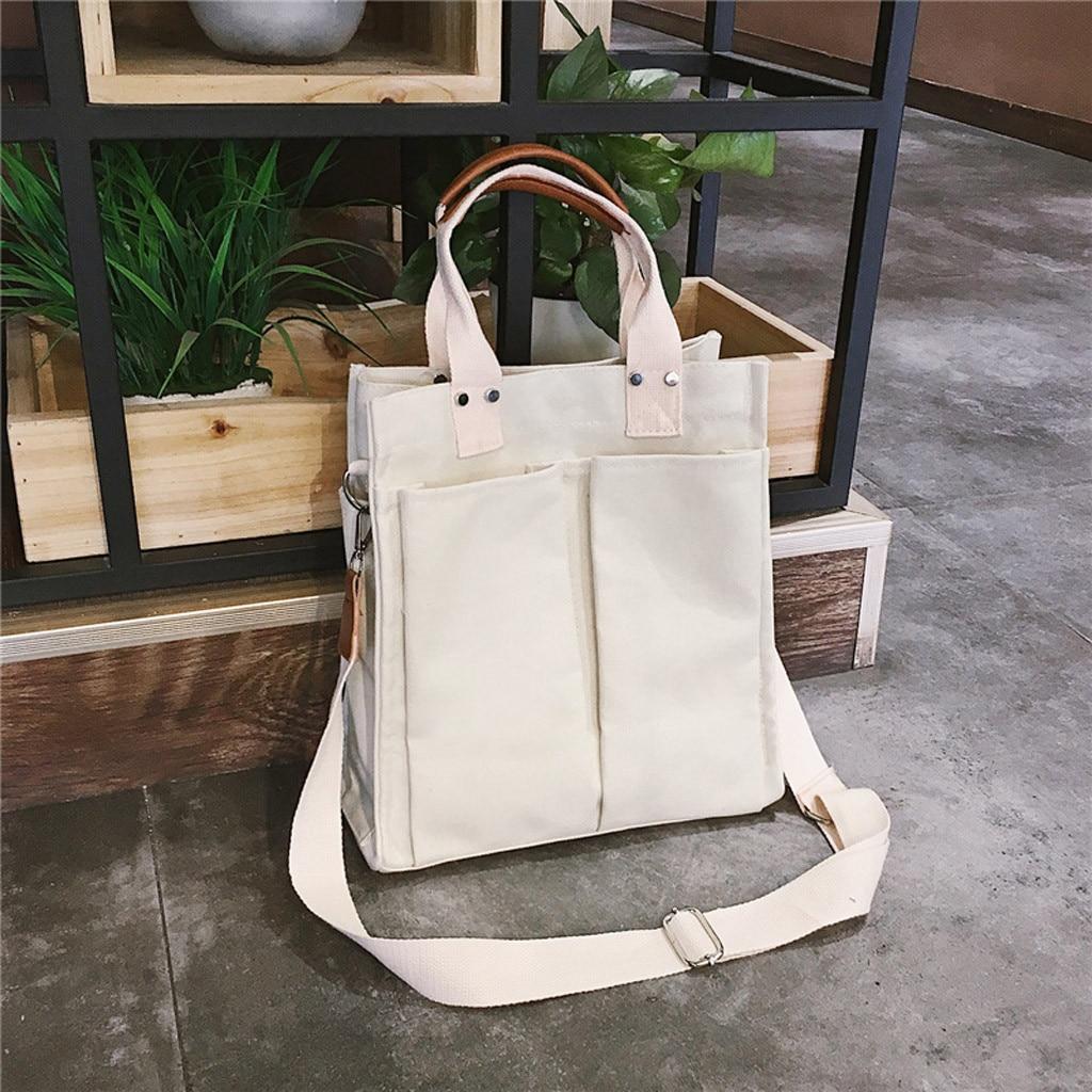 Women Shopping Bag Female Canvas Cloth Shoulder Bag Environmental Storage Handbag Reusable Foldable Eco Grocery Totes
