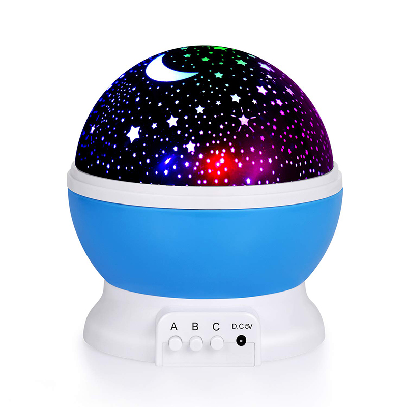 Kids Star Night Light 360-Degree Rotating Star Projector Color Desk Lamp USB Cable Children Baby Bedroom And Party Decorations
