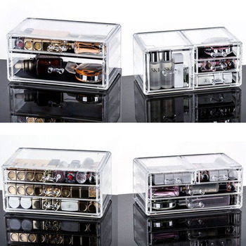 Drawer Makeup Organizer Cosmetics Storage Box Organizador Maquillaje Transparent Plastic Box Lipstick Jewelry Display Stand drawer makeup organizer cosmetics storage box organizador maquillaje transparent plastic box lipstick jewelry display stand