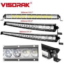VISORAK 20 26 32 Single Row Curved Offroad Slim LED Light Bar Truck LED Bar For 4WD 4x4 Trailer SUV ATV Car цена