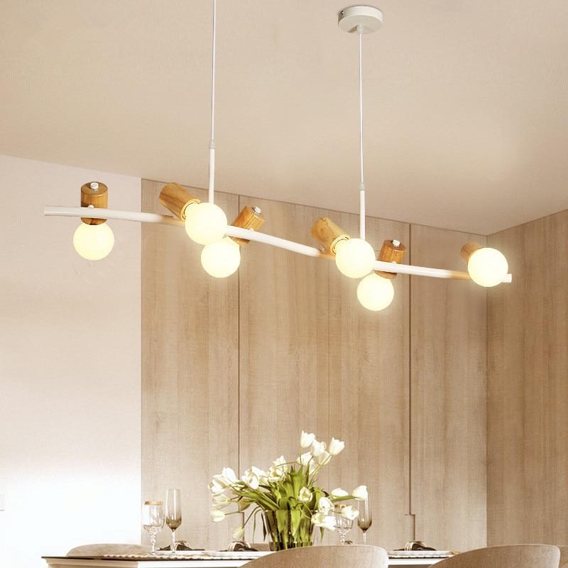 Light Solid Wood Lamps Pendant Lights