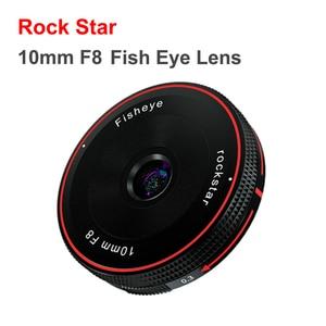 Объектив Rock Star 10 мм F8 с фиксированным фокусом для камеры Sony E Fuji FX M4/3 Canon Eos M Nikon Z Mount Micro SLR Camera
