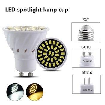 LED Spotlight E27 E14 GU10 MR16 B22 Ultra Bright 9W 12W 15W 85~265V LED Bulbs Spotlight SMD2835 led Lamp Warm/Cool White цена 2017