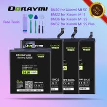 DORAYMI BN20 BM22 BM36 BM37 High Capacity Battery for Xiaomi Mi 5 5S Plus 5C Mi5 Mi5S Plus Mi5C Phone Battery Replacment Bateria mythology for xiaomi 5c mi5c big back