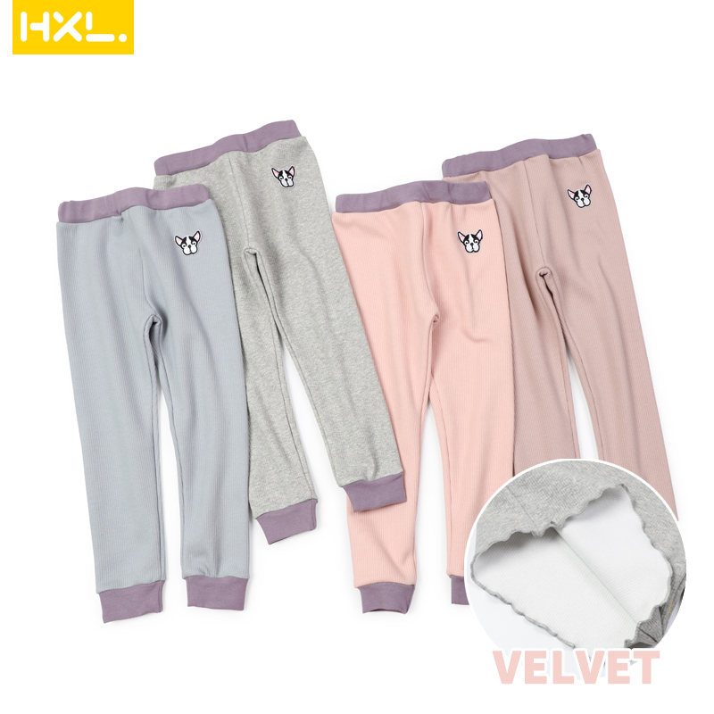 2020Autumn Kids Basic Leggings Velvet Thermal Underwear Long Pants Solid Thick Soft Baby Boys Girls Trousers Pajamas Sleepwear 1