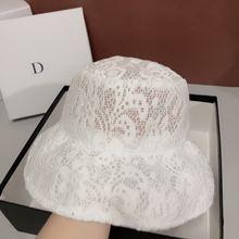 Женская пляжная шляпа qpalcr белая дышащая с цветочным кружевом