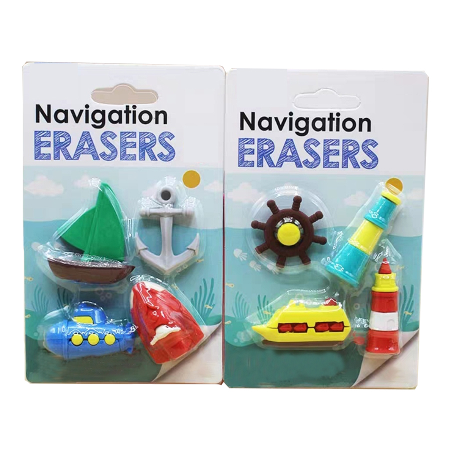 Navigation Erasers Combined With Lighthouse Eraser For Guiding Sailing Boat Erasers Shipping To Kids All Over The World /2 Boxes
