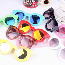 Baby Cool-Style Color Water Silver Strip UV-Protection Sun Glasses Children Fash