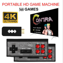 Y2 4K USB Wireless Handheld TV Video Game Console Build In  568 Classic Game 8 Bit Mini Video Console Support AV/HDMI Output