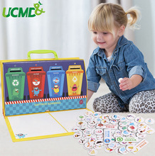 Garbage Classification Toys for Kids Preschool Educational Learning Environmental Protection knowledge cognitive Puzzle Game