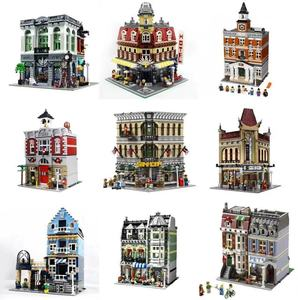 Image 4 - 都市ストリートビューシリーズ 15001 15002 15003 15004 15005 15006 15007 15008 15009 15010 12 組み立てビルディングブロックパズルおもちゃ
