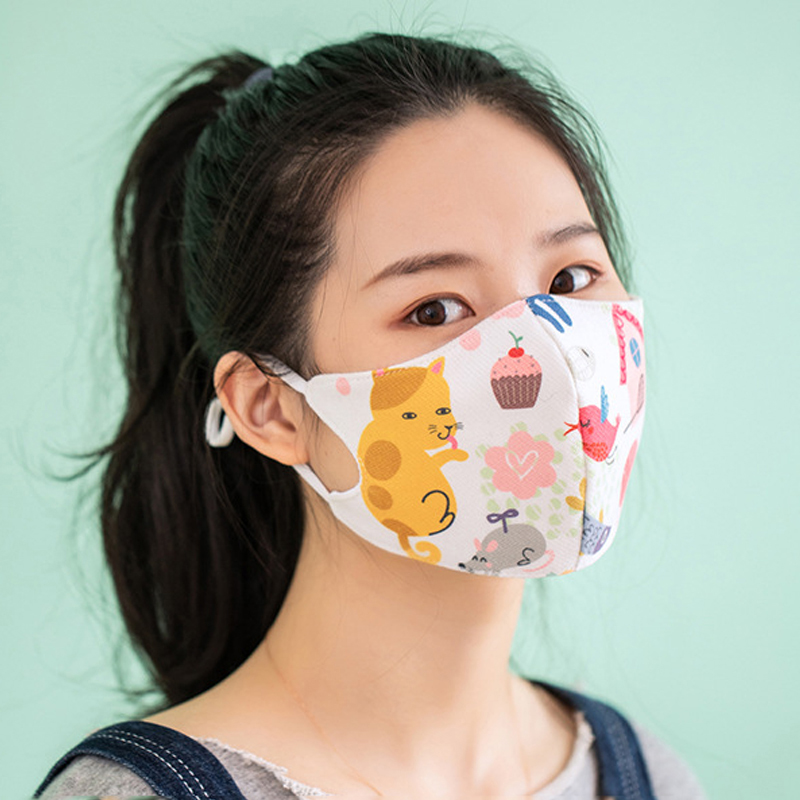 Colorful Printed Face Mouth Mask Anti Dust Mask Filter Windproof Mouth-muffle Dustproof Face Masks Care Reusable Washable Masks