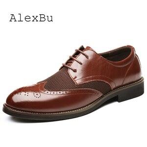 AlexBu Fashion Men Shoes Leath