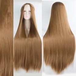 AILIADE-perruque synthétique lisse longue de 100CM, coiffure Cosplay résistante à la chaleur, violette rose bleue noire verte grise