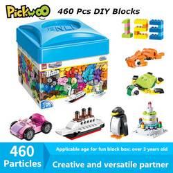 Pickwoo D10 460 Pcs Diy Bouwstenen Creative Classic Juguete Gift Plastic Kleine Formaat Bricks City Cijfers Speelgoed Voor Kinderen