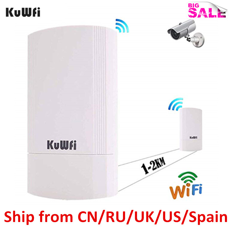 KuWFi Wireless CPE Router 5G 450M Wireless Wifi Bridge Indoor&Outdoor Point To Point 1KM Wireless Repeater Not Setting 24V POE