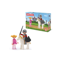 Action & Toy Figures EFKO Knight on a white horse and Princess figurines children's toy games set of figures game for kids
